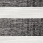 gemeleerd grijs zwart duo rolgordijn verduisterend op maat