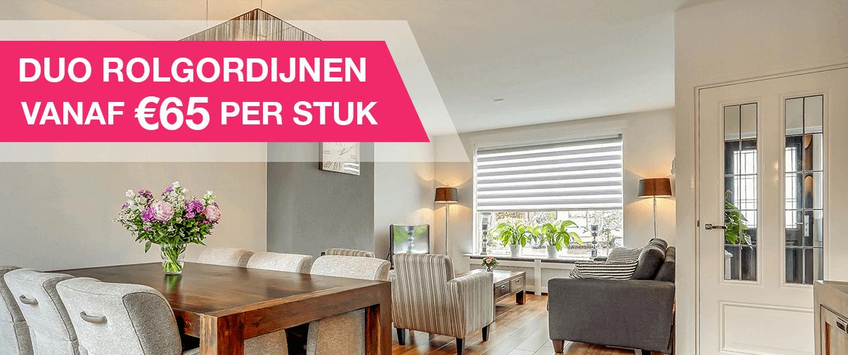 Raamdecoratie Eindhoven | Rolgordijn v.a. € 49,95 | AANBIEDING